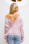 Like A Rockstar Sweater - Pink