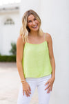 Light The Night Top- Lime Green