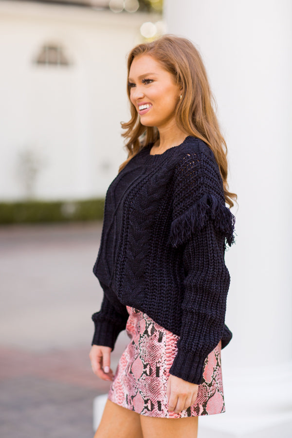 That Fall Feeling Sweater - Black