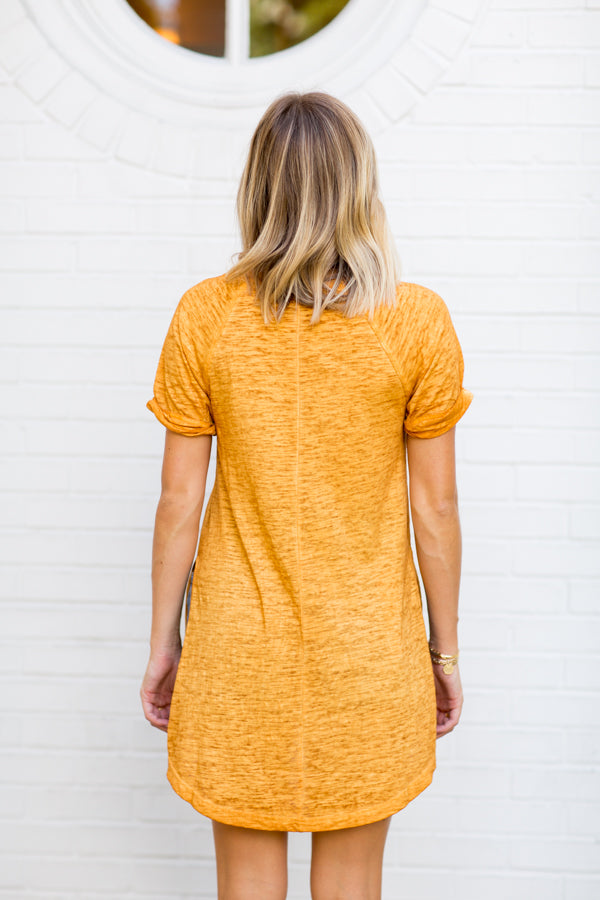 Z-Supply Split Tee- Mustard Gold