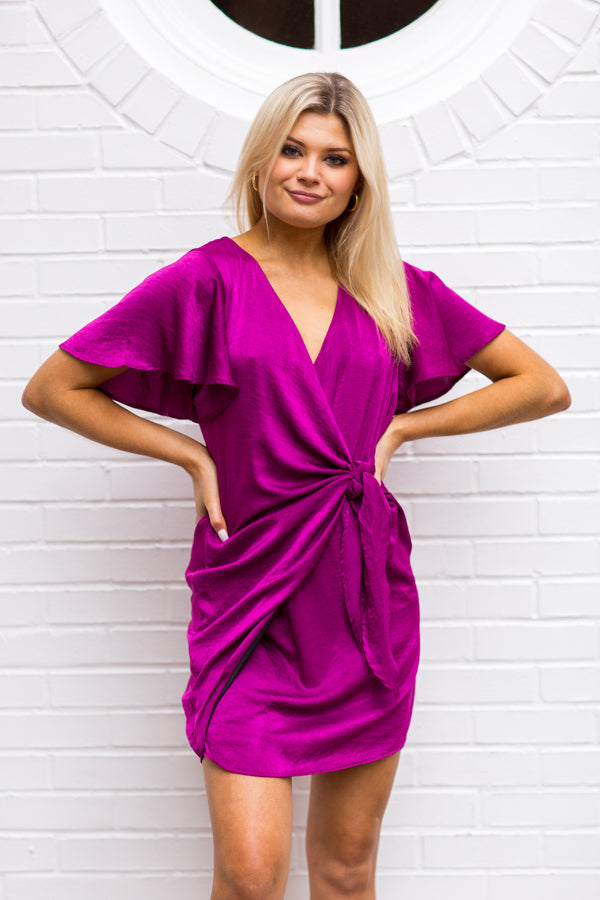 Electric Lady Dress - Magenta