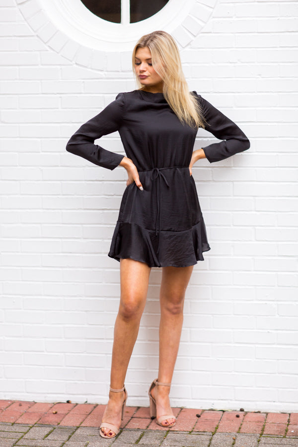 On The Guest List Dress - Black