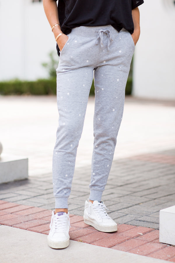 Starry Nights Joggers- Grey