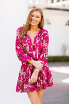 Harvest Time Dress - Fuchsia