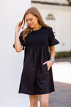 Doll In The Fall Dress - Black