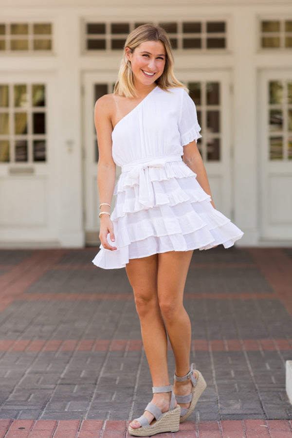 On Trend Dress- White