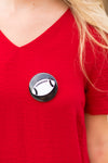 Football Button- Black
