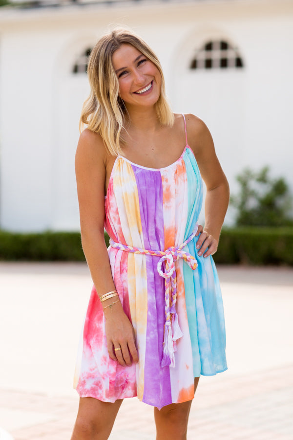 Rope Her In Dress- Tie Dye