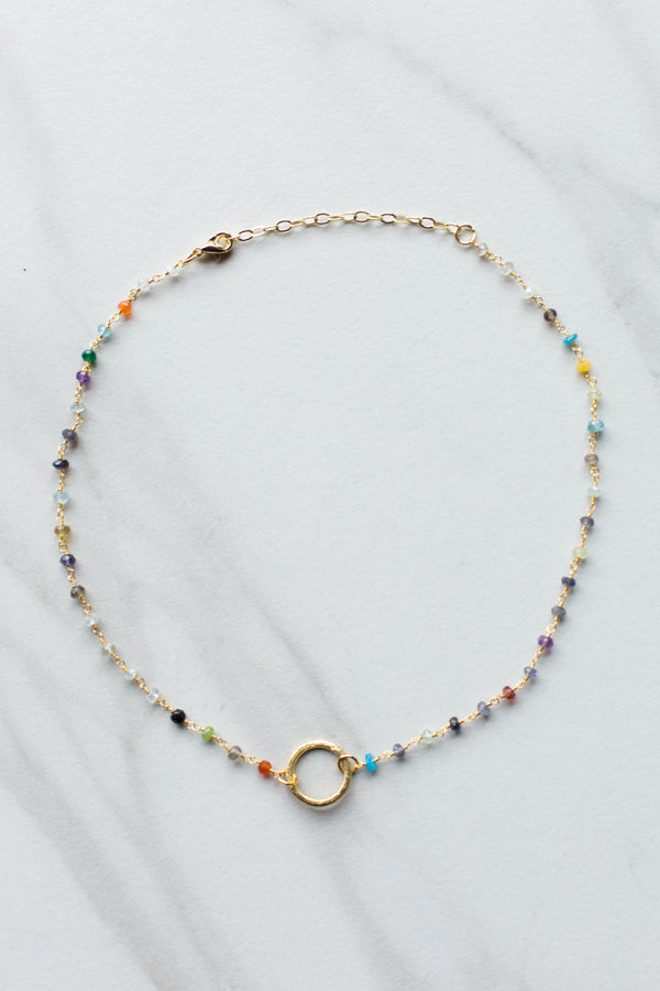 Multicolor Beaded Choker