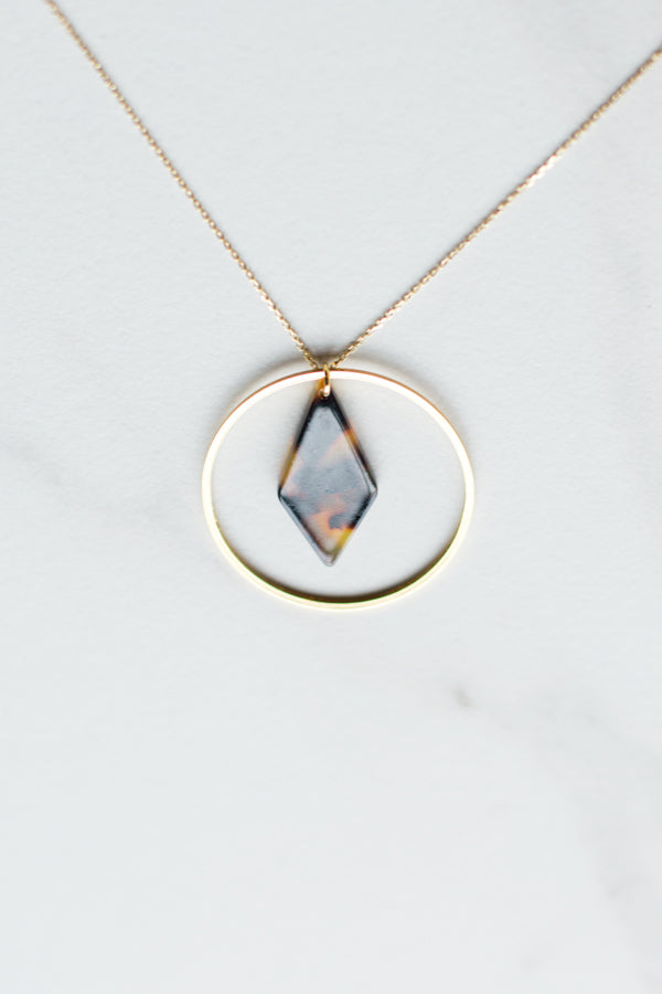 Circle Tortoise Necklace