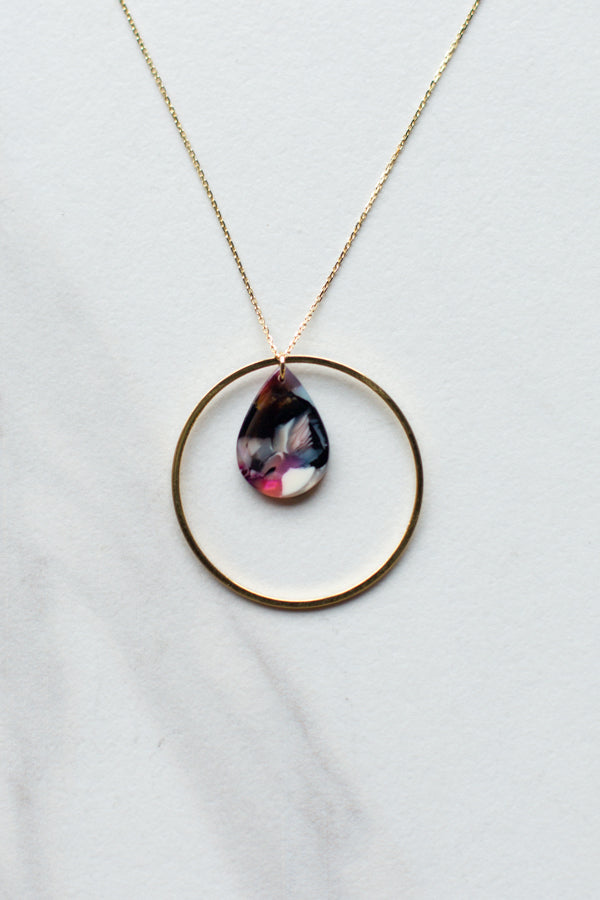 Circle Multicolor Necklace