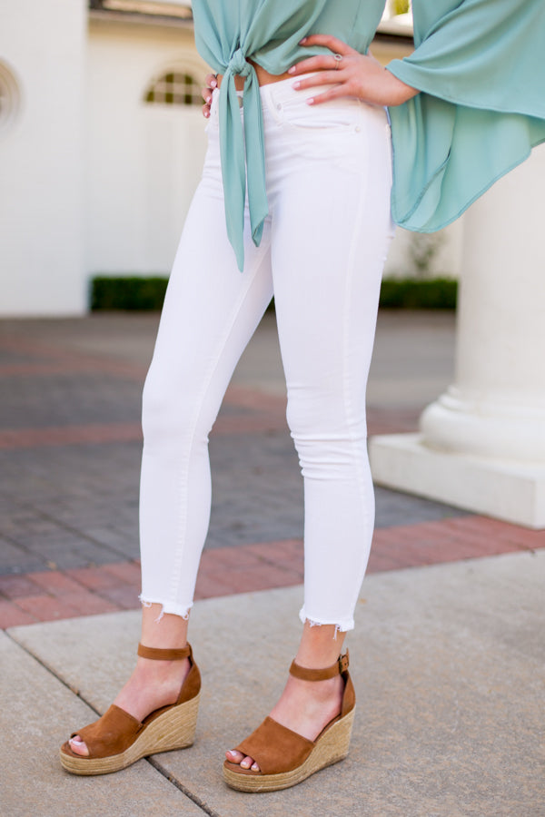 Hello Spring Skinny Jean- Optic White