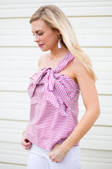 Firework Off The Shoulder Stripe Top
