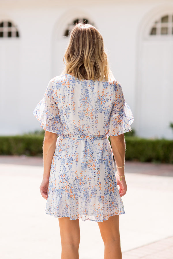 Into The Bloom Dress- White
