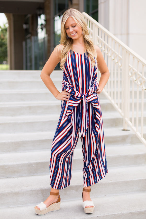 Southern Stripes Jumpsuit