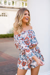 Falling For Florals Top- Cream