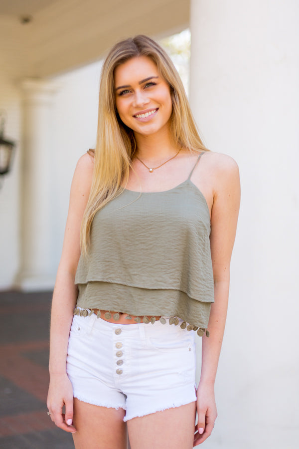 Bali Babe Top- Olive