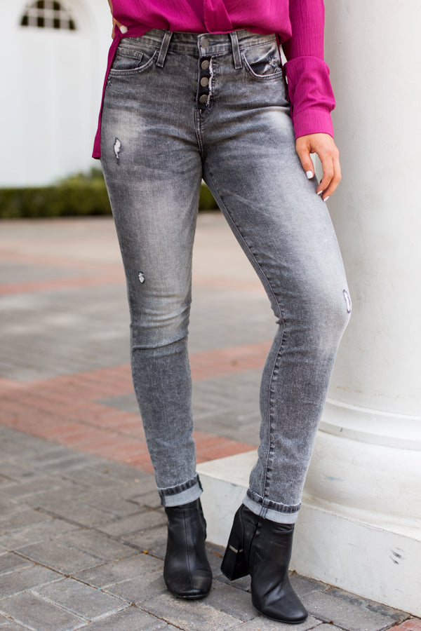 Flying Monkey Willow Jeans- Charcoal