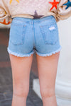 Summer Days Denim Shorts- Light Wash