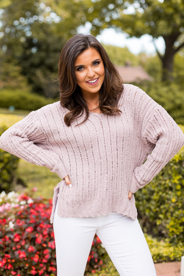 Need It Knit Sweater- Lavender