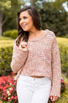 Dippin' Dots Cropped Sweater