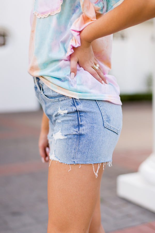 Pistola Denim High Rise 90's Shorts- Come On