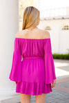 Breezy Boho Babe Dress - Fuchsia