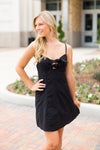 Two Tied Dress- Black