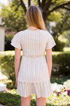 Sand Under My Toes Dress - Cream Stripe