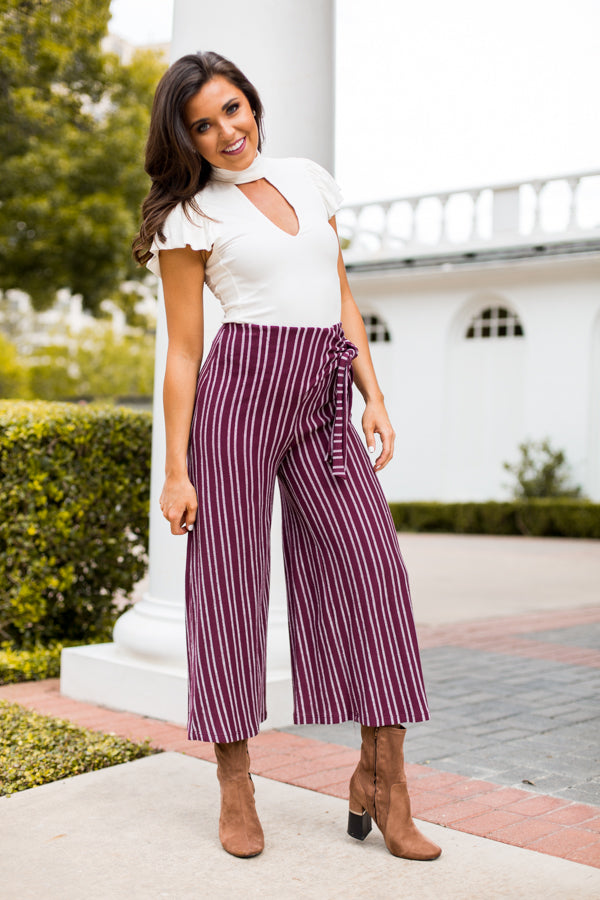 Napa Strolls Pants- Wine
