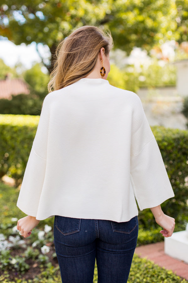 Chic As Ever Sweater- Ivory