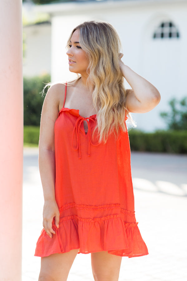 June Days Dress- Orange