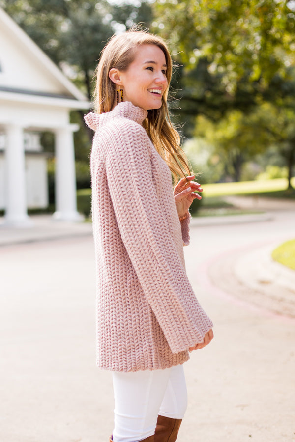 If Knit's Meant To Be Sweater- Mauve