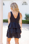 Sleek Like Silk Dress- Black