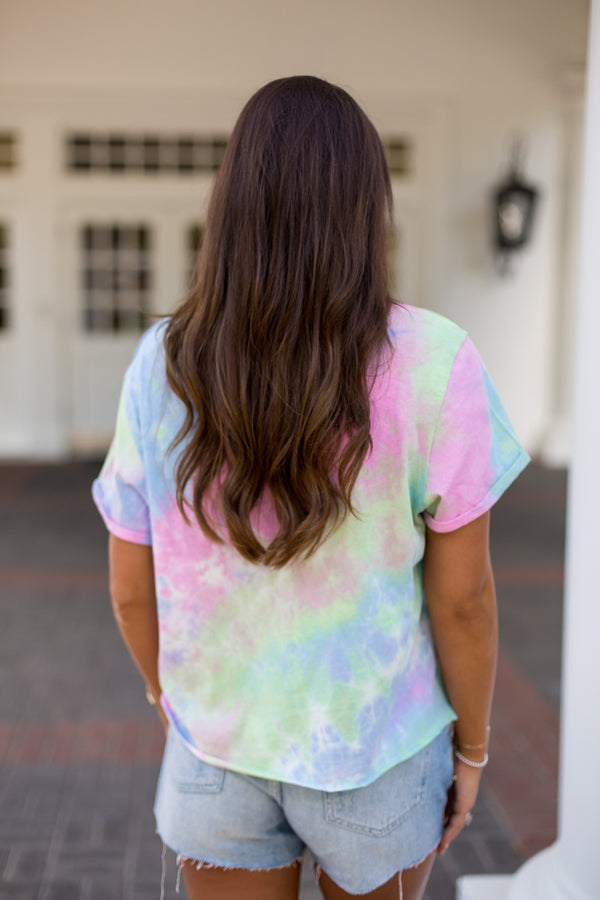 Out Of This World Tie Dye Tee- Lime