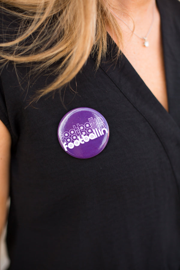 Footballin' Button- Purple