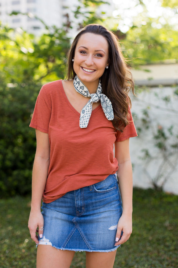 Burnt Orange Babe Tee
