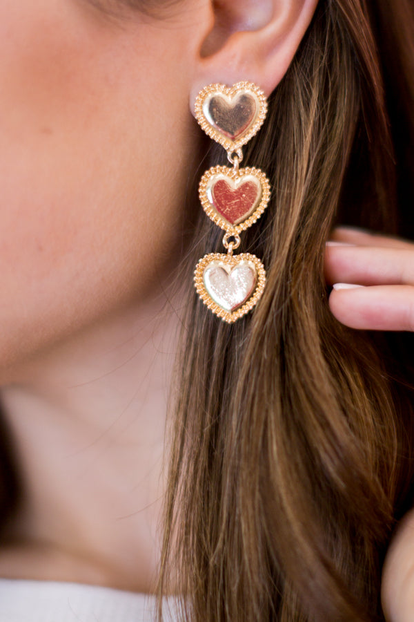 Key To My Heart Earrings - Rose Gold