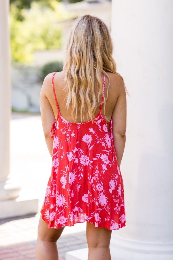 Peony Party Dress- Calypso Coral
