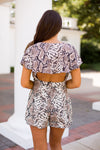 Girly Girl Wrap Romper- Snakeskin