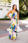 Can You Toucan Maxi Dress- White