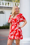 Jamaican Me Crazy Dress- Red