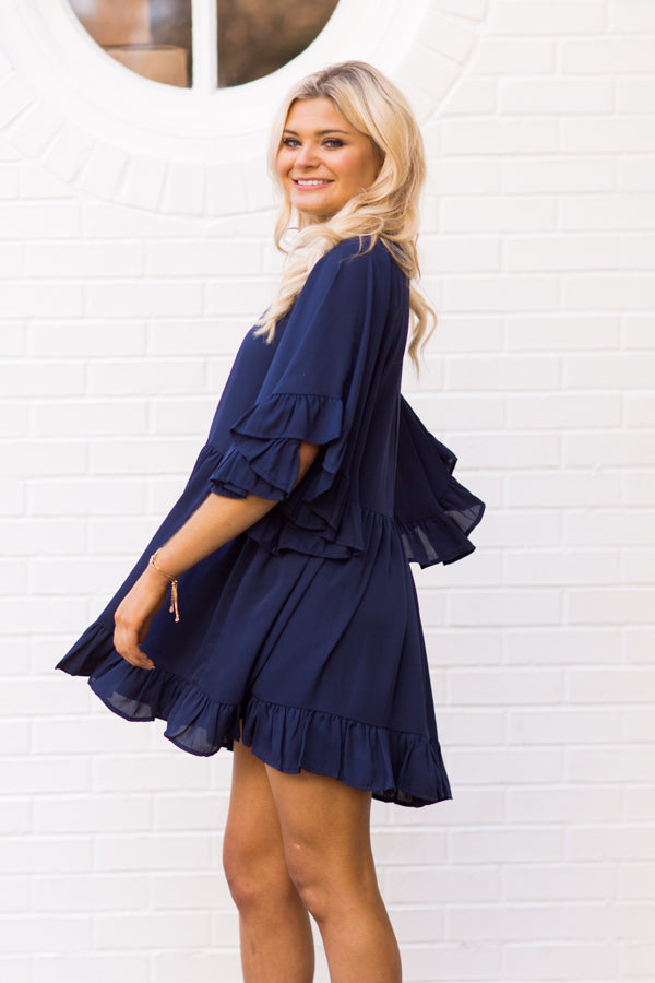 Mix & Mingle Dress - Navy