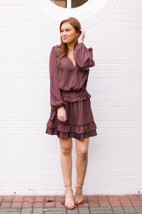 Pleats & Thank You Dress - Truffle