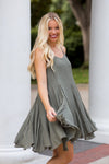 Go With The Flow Dress- Olive