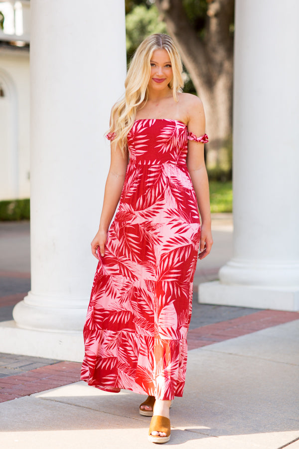 Amuse Society Terrazza Maxi Dress - Red
