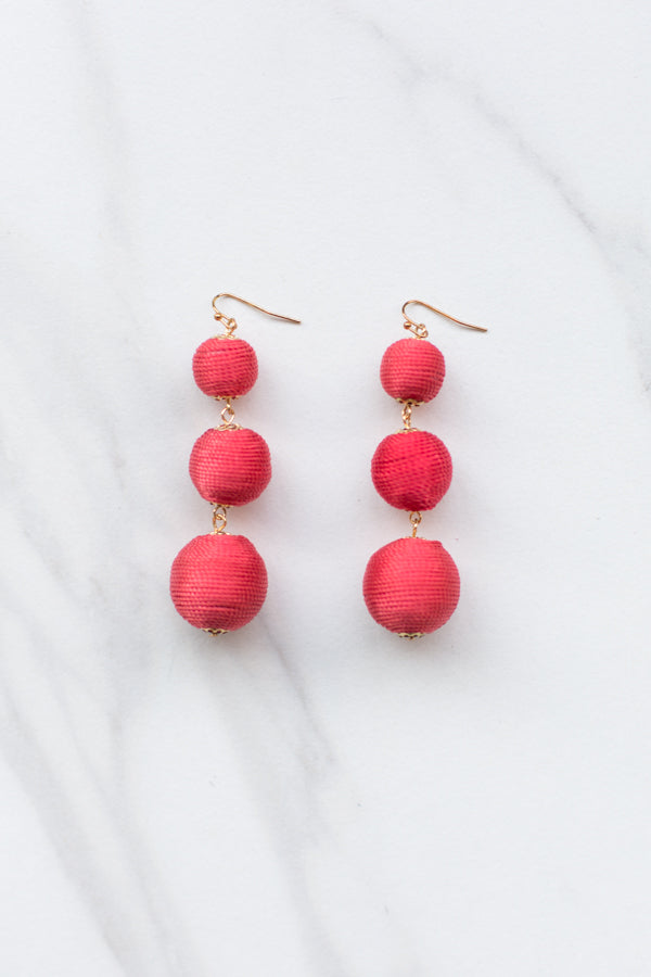 True Red Drop Earrings