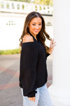 V That Girl Sweater- Black
