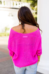 Summer's Ending Knit Top- Fuchsia
