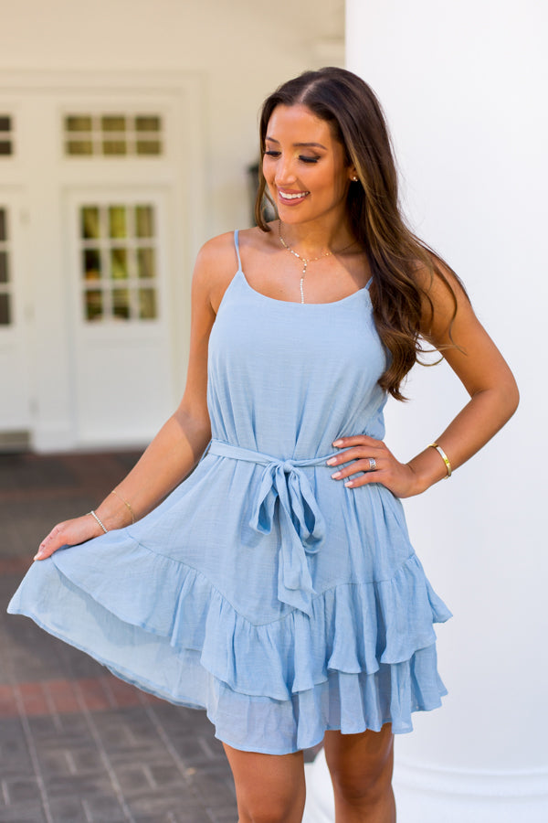 Clear Skies Dress- Light Blue